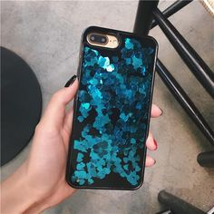 itGirl Shop SEQUIN HEARTS LIQUID IPHONE CASE Aesthetic Apparel, Tumblr Clothes, Soft Grunge, Pastel goth, Harajuku fashion. Korean and Japan Style looks
