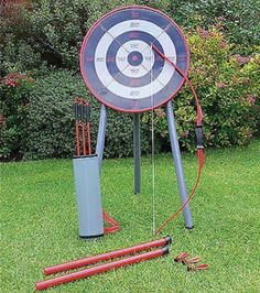 OUTDOOR GARDEN ARCHERY SET BOW  ARROW BLOW PIPE AND DARTS KIT KIDS TOY GAME | eBay