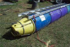 Plastic Barrel Pontoon Boat - ImageBoard
