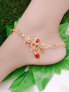 Women's Anklets: starting Rs.199 /- free COD whatsapp+919199626046, Offer Valid only for limited time Cute Jewelry, Bridal Jewelry, Trendy Fashion Jewelry, Fashion Necklace, New Jewellery Design, Toe Rings, Free Gifts, Jewelry Collection, Handmade Jewelry