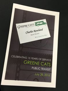 In 2016 I began serving on the Greene CATS board.