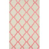 Found it at AllModern - Moderna Bubble Gum Moroccan Trellis Rug  Pinned for MINT Styling's interior decorating project for a client with a one bedroom apartment in Belmont, CA. Client is looking for a modern shabby chic look with bright pops of color.