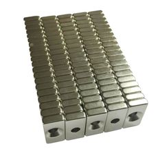 20x10x4mm Wholesale Super Strong Block Magnets Hole 4mm Rare Earth Neodymium N50 #Affiliate