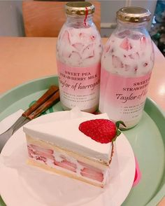 muse_pink - December 24 2018 at - Foods and Inspiration - Yummy Sweet Meals - Comfort Foods Recipe Ideas - And Kitchen Motivation - Delicious Cakes - Food Addiction Pictures - Decadent Lifestyle Choices Good Food, Yummy Food, Healthy Food, Healthy Milk, Pink Foods, Cute Desserts, Food Goals, Cafe Food, Aesthetic Food