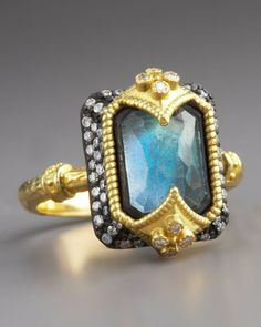 Armenta Dulcinea Labradorite Ring in Blue