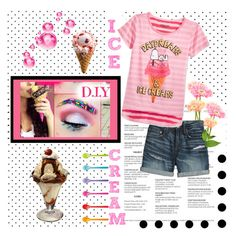 """#icecream"" by sparky385 ❤ liked on Polyvore featuring art"