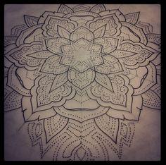 Love the geometric dot work tattoos