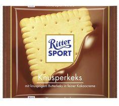 4 Bars Ritter Sport Butter Biscuit Original Famous German Chocolate 400g #RitterSport
