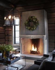 〚 Modern chalet with moody dark interiors in Norway 〛 ◾ Photos ◾Ideas◾ Design Scandinavian Home, Home Decor, Dark Interiors, Cottage Interiors, Cabin Style, Fireplace, Winter House, Cosy Living Room, Rustic House
