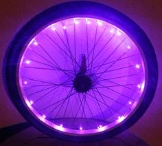 Must get for girls Okay me too Etsy listing at https://www.etsy.com/listing/187974326/light-purple-led-battery-operated-bike
