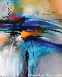 Abstract Contemoporary Painting - Artist Tim Parker - Naples FL