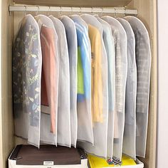 5Pcs Useful Dust-proof Clothes Cover Suit /Dress Garment Bag Storage Protector