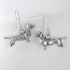 Dachshund Wire Hair Earrings, $64, now featured on Fab.
