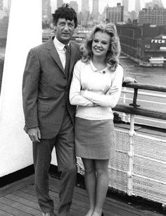 Hayley Mills & Roy Boulting ~ While filming The Family Way, the 20-year-old Mills met 53-year-old director Roy Boulting. The two married in 1971. He was five years younger than her father, John.