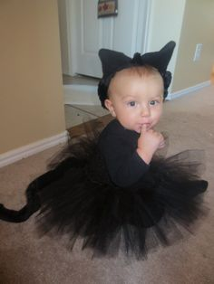 infant black cat costume inspiration for isabellas first halloween costume - Baby Cat Halloween Costume