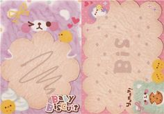 cute fragrant animal memo pad from Japan with colorful bears and sheep, cookies, macarons and vanilla scent
