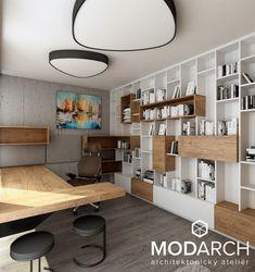 "INTERIOR ""M""⎢home office design Home Office Design, Corner Desk, Loft, Bed, Interior, Furniture, Home Decor, Corner Table, Decoration Home"