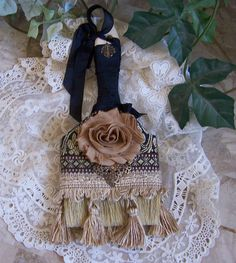 wall hanging home decor art  rose trims black and gold