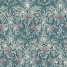 The wallpaper Thistle - 7204 from Boråstapeter is a wallpaper with the dimensions x m. The wallpaper Thistle - 7204 belongs to the popular wallpaper c Wallpaper Online, Of Wallpaper, Pattern Wallpaper, Designer Wallpaper, Thistle Wallpaper, Inspirational Wallpapers, Blue Wallpapers, Vintage Roses, Gray Background
