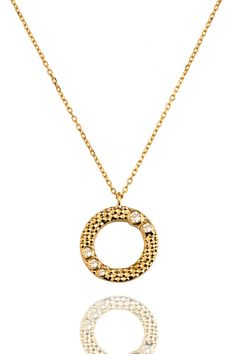 Wanderlust Gold White Topaz Necklace