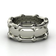 Men's Sterling Silver Ring | Talon Ring | Gemvara  For your vampire friends. Those are totally fangs.