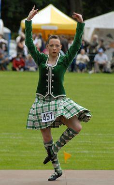 Kilt with green jacket Scottish Highland Dance, Scottish Highlands, Drum Major, Kilts, My Heritage, Plaid Skirts, Green Jacket, Dancers, Green Dress