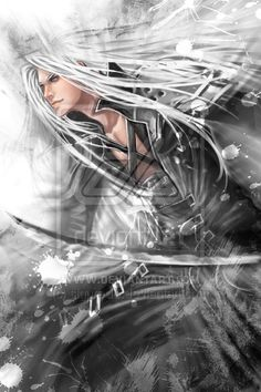 Zen - Sephiroth II by *siguredo <- Sephy may be Voldemort-level when it comes to evil, but heaven help me that man is gorgeous x3