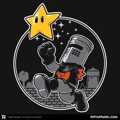 I'm Invincible! T-Shirt Monty Python's Black Knight in Super Mario World. Nerdy Shirts, Cool T Shirts, Super Smash Bros, Super Mario Bros, Super Mario World, Monty Python, Geek Gear, Black Milk, The Villain