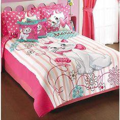 DISNEY Aristocats Marie Girl's Bed Bedding Comforter Sheet Gift Set Pillow Shams