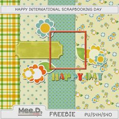 Mee.D. scrapbook kits free download: International scrapbooking day freebie