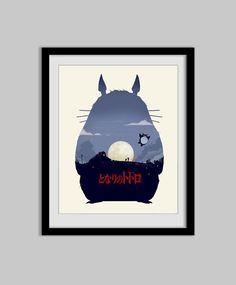 My Neighbor Totoro - Movie Poster - totoro, ghibli, movie poster, wall art, decor