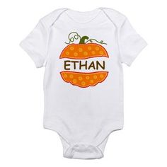 Cute Pumpkin with name Ethan Body Suit