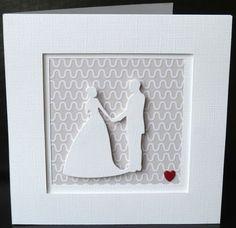 Carte de félicitations de mariage comme un cadre