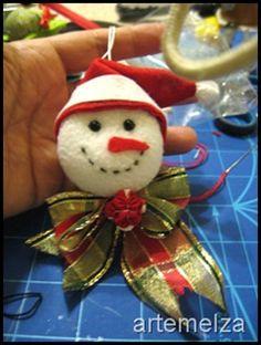 snowman made with a yo-yo
