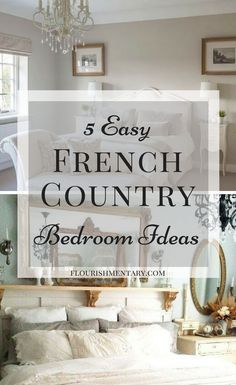 5 Easy French Country Bedroom Ideas French country is the perfect design style for bedrooms. Its fun, fresh, and unfussy! See the 5 easy ways to get this look at home! French Country Bedrooms, French Country Farmhouse, French Country Style, Bedroom Country, Country Kitchen, French Country Bedding, Country Bathrooms, Modern Country, Vintage Country