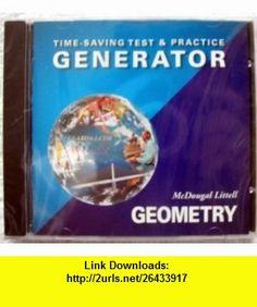 Mcdougal Littell Test  Practice Generator Geometry (9780618019717) Ron Larson, Laurie Boswell, Lee Stiff , ISBN-10: 0618019715  , ISBN-13: 978-0618019717 ,  , tutorials , pdf , ebook , torrent , downloads , rapidshare , filesonic , hotfile , megaupload , fileserve