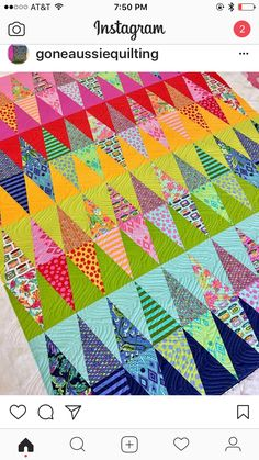 Funky pieced quilt idea!