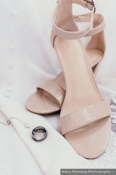 Wedding shoes ideas - pink, nude, beige, open toe, heels, straps {Haley Manning Photography}