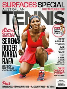 <3 5/7/14  Via @Australian Open The new copy of @AusTennisMag hits stands this week. Can't put in2 words how much we LOVE this cover! @Serena Williams