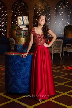 0e51f712f3 Beaded cap sleeve red satin floor length A line evening prom dress Gorgeous  Prom Dresses