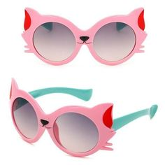 These friendly fox children's sunglasses are perfect for fun-filled days in the sun. Pick from multiple color combinations available to fit your kid's style and personality. Funny Sunglasses, Girl With Sunglasses, Kids Sunglasses, Cat Eye Sunglasses, Cat Headphones, Friendly Fox, Kids Gadgets, Goggles Glasses, Cat Eye Makeup