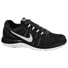 sports shoes fc2fe 3f74f Nike Dual Fusion Run 3 - Men s - Black White Cool Grey Metallic Silver