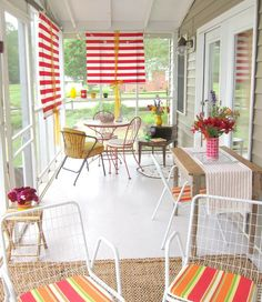 Before & After: Plain to Party Ready Screened Porch  #ApartmentTherapy