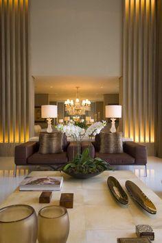 Modern and luxury living room #luxuryhomes #livingroom #interiordesign - Luxury Homes