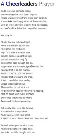 The prayer we said before regionals today<3