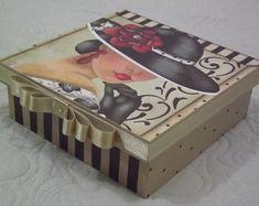 Arte Country, Vintage Box, Decorative Storage, Houston, Scrap, Diy, Painting, Home Decor, Painted Wooden Boxes