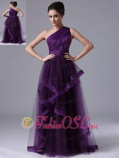 One Shoulder Tulle Empire Purple Ruched 2013 Prom Dress Dama Dresses, Pageant Dresses, Quinceanera Dresses, Homecoming Dresses, Graduation Dresses, Party Dresses, Quinceanera Party, Dresses 2013, Prom Gowns