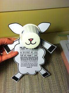 psalm craft ideas for kids - Cute little sheep for kids!   #craftideas
