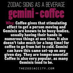 Zodiac signs as a beverage