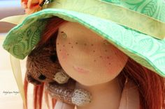 Pippi Primrose, inspired by Pippi Longstocking, and made by Angelique Angels
